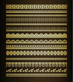 Conjunto de fronteras vintage — Vector de stock