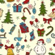 Christmas seamless pattern — Stock Vector #13893013