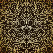 Damask seamless backgrounds - Stock Vector