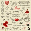 Set of vintage design elements - Stock Vector