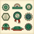 Royalty-Free Stock Vector Image: Set of Christmas labels