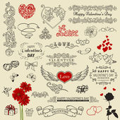 Set of vintage design elements — Stock Vector