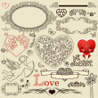 Set of valentine design elements — Image vectorielle