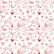 Seamless pattern for valentine's day with cupid, coattail, bow,  — Stock Vector