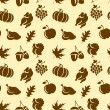 Thanksgivin Seamless Pattern — Stock Vector