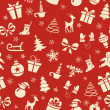 Stock vektor: Christmas Seamless Pattern