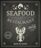 Seafood Poster — Stock Vector