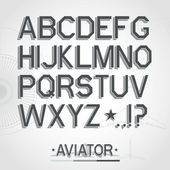 Vector font — Stock Vector