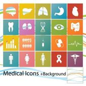 Medical icons — Vector de stock