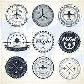 Aviation labels — Vector de stock