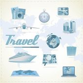 Travel icons — Vector de stock