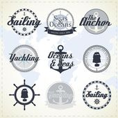 Vintage nautical labels — Vector de stock