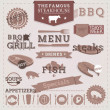 Vintage BBQ Grill Steakhouse design elements and labels. — Stock Vector #26895189