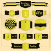 Labels and badges — Stock Vector