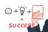 Dibujo lo necesario para el éxito — Foto de Stock