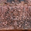 Bas-relief at Banteay srei — Stock fotografie