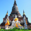 Stock Photo: Yai Chai Mongkol temple, Ayutthaya, Thailand