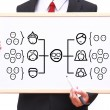 Stockfoto: Team organization chart