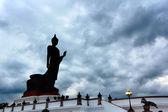Silhouette Buddha image — Стоковое фото