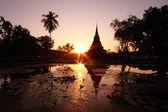 Silhouette pagoda — Stock Photo