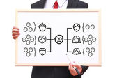 Team organization chart — Stock Photo