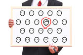 Recruitment person for work — Stock Photo