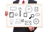 Business management lifestyle daily excess stuff — Stock Photo