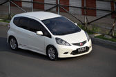 White colored honda jazz RS — Stock Photo