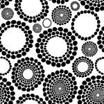 Seamless Monochrome Background — Stock Vector