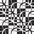 Seamless Monochrome Pattern — Stock Vector
