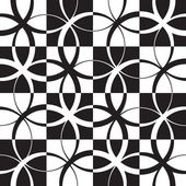 Seamless Monochrome Pattern — Cтоковый вектор