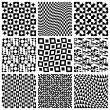 Stock Vector: Seamless Pattern Set