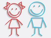 Erkek ve kız — Stok Vektör