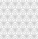 Sem costura padrão geométrico monocromático — Vetorial Stock