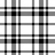 Seamless Tartan Monochrome Pattern — Vecteur