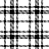 Seamless Tartan Monochrome Pattern — Stock Vector