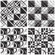 Monochrome Seamless Pattern Set — Stock Vector #40270879