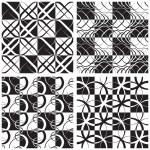 Monochrome Seamless Pattern Set — Stock Vector #40270879