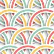 Colorful Rings Background — Stock Vector