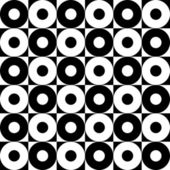 Monochrome Seamless Circles Pattern — Cтоковый вектор