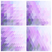 Lila Tile Background Set — Stock Vector