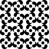 Seamless Monochrome Pattern — Stock Vector