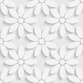 Seamless Abstract Floral Pattern — Stock Vector