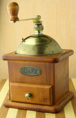 Old coffee grinder brown in color — Stock Photo