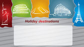 Holiday destination — Stock Vector