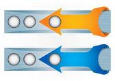 Header or banner design set — Stock Vector