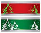 Счастливого Рождества заголовка веб-сайта и баннер — Cтоковый вектор