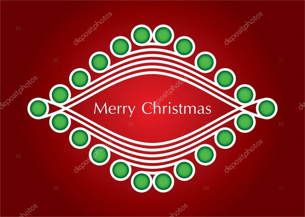 圣诞卡片与抽象圣诞树红色背景