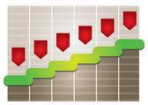 Graph of development — Stock Vector