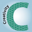 Creativity - Color letters — Imagen vectorial